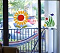 Gel Window Cling Stickers Sunflowers and Fish Under the Sea Great Sun catcher
