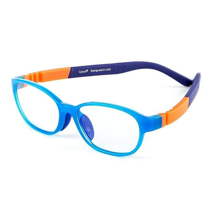 6ab8ed9393 Cyxus TR90 ligero flexible gafas filtro de luz azul para niños  [transparente lente] anti