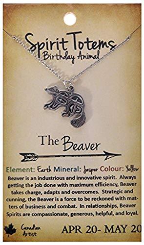Shag Wear Spirit Totems Birthday Animal Pendant Necklace (Beaver Pendant)
