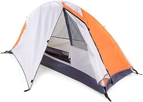 CWTCHIL Tienda de campaña Refugio de luz Solar Desmontable Individual Cabaña de Camping Tienda de campaña Impermeable al Aire Libre Naranja: Amazon.es: Deportes y aire libre