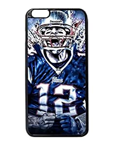 "Super New England Patriots Tom Brady Hard Case Cover Skin for Iphone 6 Plus with 5.5"" inches Case"