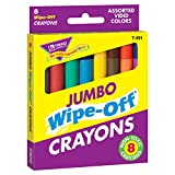 : Trend Enterprises Jumbo Wipe-Off Crayons Novelty (Pack of 8)