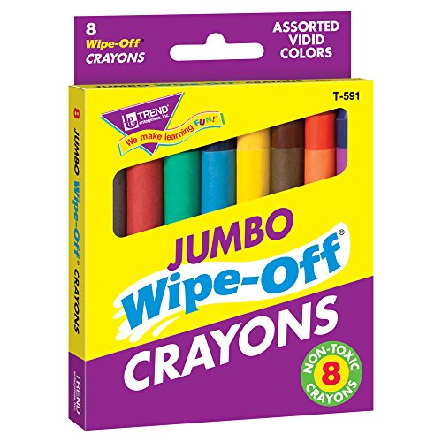 Wipe Off Crayons (Trend Enterprises Jumbo Wipe-Off Crayons Novelty (Pack of 8))