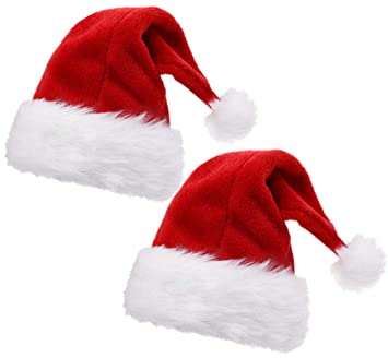df8983386eb55 Amazon.com  ALIMITOPIA 2pcs Christmas Santa Hat