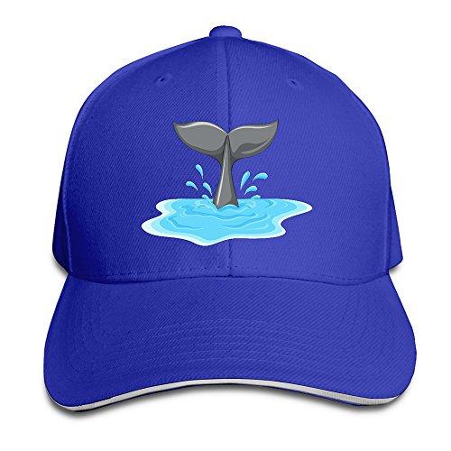 whale-tail-unisex-100-cotton-adjustable-baseball-cap-royalblue-one-size