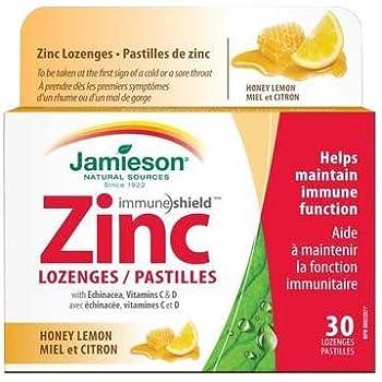 Amazon Com Jamieson Honey Lemon Zinc Lozenges 30 Lozenges Health