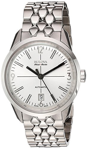 Bulova-Mens-Automatic-Stainless-Steel-Casual-Watch-ColorSilver-Toned-Model-63B177