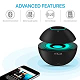 E-BLUE Portable Wireless Bluetooth Speaker V4.0 with Built-In Microphone, Touch Button and Hands-Free LED Light Show for iPhones, Smartphones, Tablets and MP3 Devices - Superior Mini Stereo Sound Bass