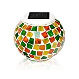 Mosaic Solar Light, KASIMO Led Solar Ball Table Light, Waterproof & Color changing Glass Night light for Outdoor/Indoor Decoration, Bedroom, Party, Garden, Christmas Day, Prefect Present for Adult and k