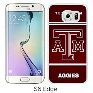 Beautiful And Unique Designed Case For Samsung Galaxy S6 Edge With Southeastern Conference SEC Football Texas A&M Aggies 04 White Phone Case