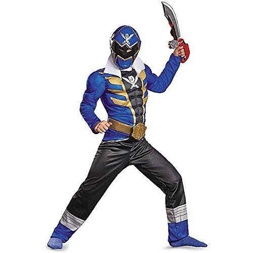 Super Megaforce Blue Ranger Costumes (Super Megaforce Muscle Blue Ranger Costume 10-12)