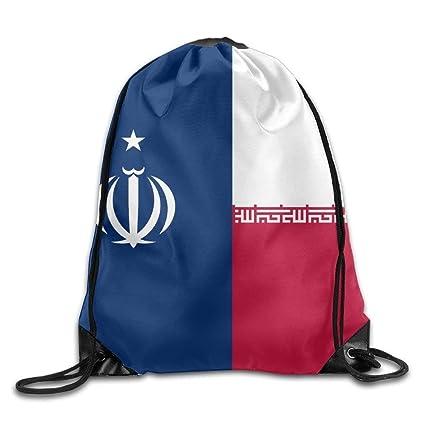 Vilico Bandera de Irán Personalizado Gimnasio Bolsa de Viaje Mochila Escolar Mochila
