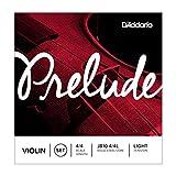 D'Addario Prelude Violin String Set, 4/4 Scale, Light Tension,J810 4/4L