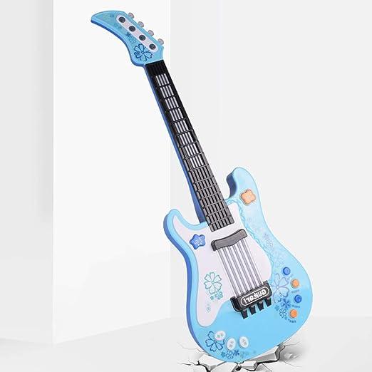 MRKE Guitarra Electrica Niños 57cm Rock Juguete de Instrumentos Musicales con Luces de Colores para Infantil Niño y Niña 3-7 Años (Azul): Amazon.es: ...