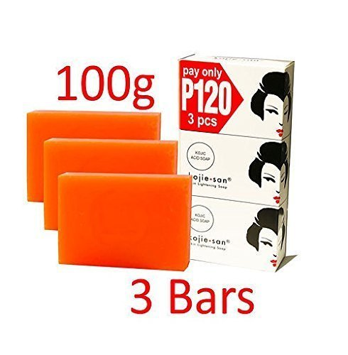 Kojie San Skin Lightening Kojic Acid Soap 3 Bars - 100g (100g Soap Bar)