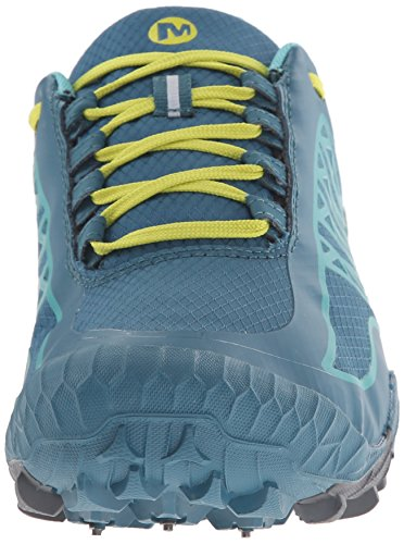 Merrell Womens All Out Terra Ghiaccio Impermeabile Trail Running Scarpa Libellula / Giallo Brillante