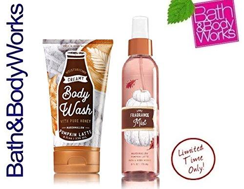 Bath & Body Works MARSHMALLOW PUMPKIN LATTE Gift Set ~ Creamy Body Wash & Fine Fragrance Mist ~ Full (Creamy Marshmallows)