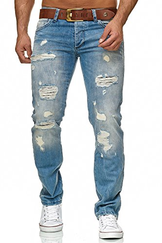 Vaqueros Bridge Destruida Red Hombre Denim Mira Pantalones Jeans 7T6xSqw