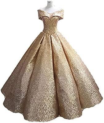 Vestidos de novia Mujeres fuera del hombro Brillo de ...