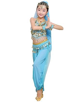 Anguang Mädchen Kinder Bauchtanz Kostüm Set Halloween Karneval Hosen ...