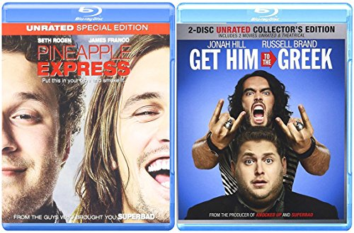 Pineapple Express + Get him to the Greek Blu Ray Set Comedy 2 Movies double feature bundle
