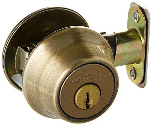 Kwikset 660 5 RCAL RCS Single Cylinder Deadbolt, Antique Brass