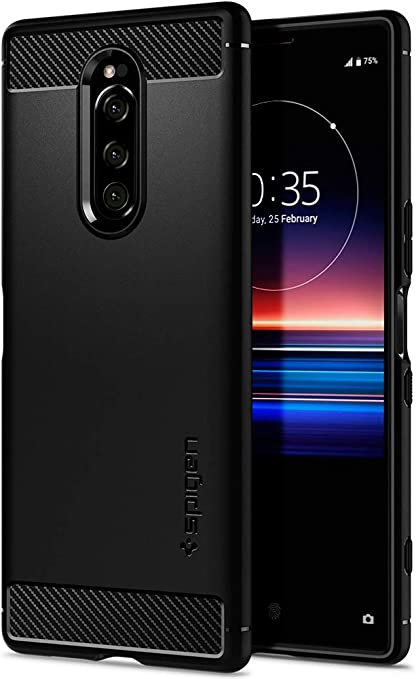 Spigen, Funda Compatible con Sony Xperia 1, [Rugged Armor ...