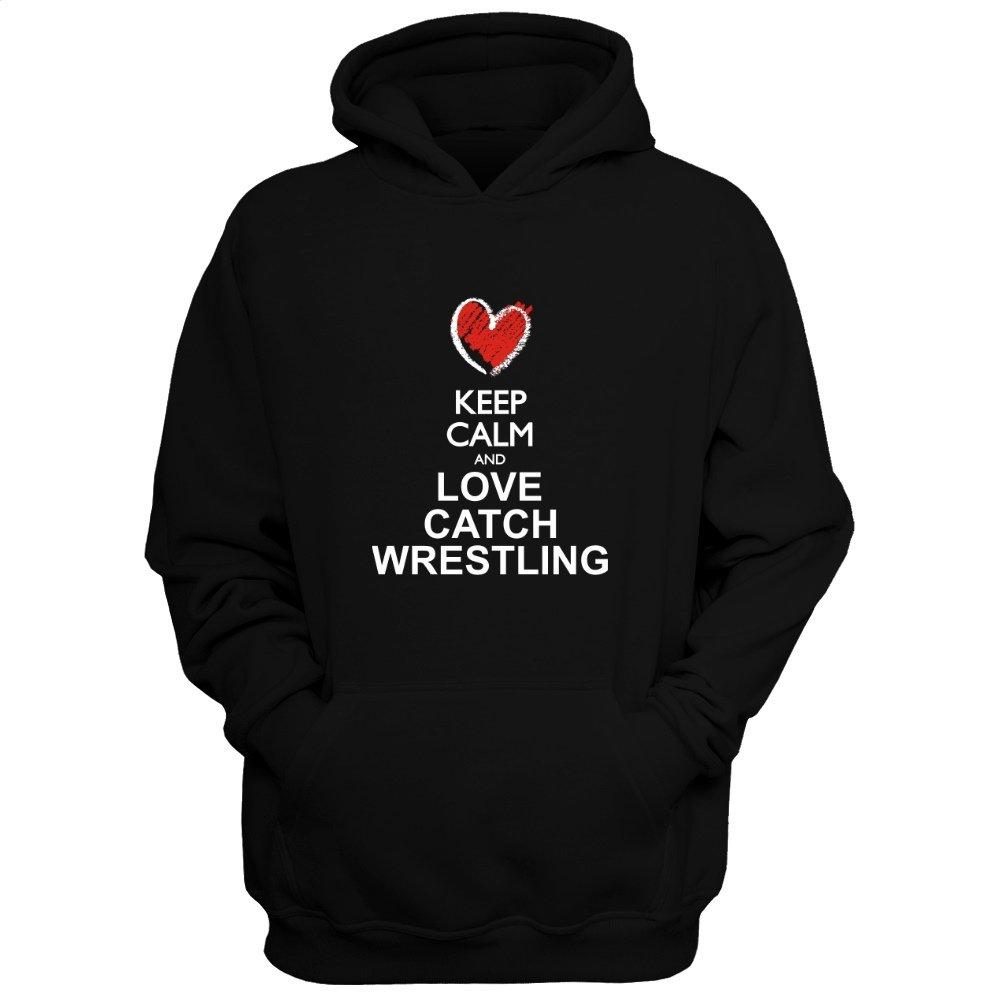 Idakoos Keep Calm and Love Catch Wrestling chalk Style - Sports - Hoodie by Idakoos
