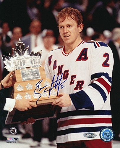 Brian Leetch Signed 8x10 Photo - Brian Leetch Rangers Conn Smythe Autographed Signed 8x10 Photo Autographed Steiner