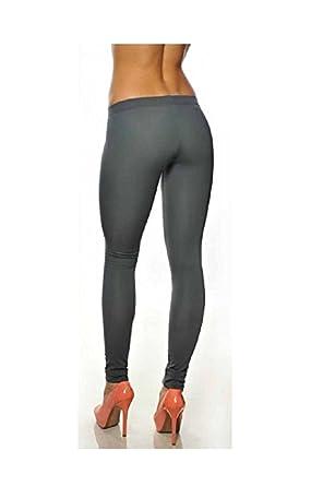 elle lui Legging Thermique Chaud Pantalon Collant Panty Gris foncé Polaire  Hiver Ski L XL Femme 54333ffb8fe