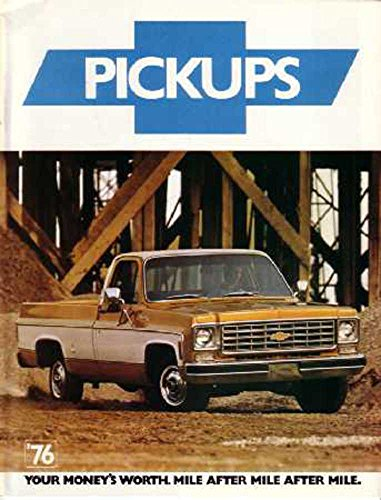 - 1976 Chevrolet Pickup Truck Sales Brochure Literature Book Options Specification