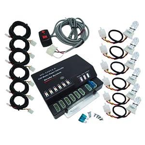 SmallFatW 6 HID Bulbs 120w Hide-a-way Emergency Hazard Warning Headlight Truck Strobe Light Kit System