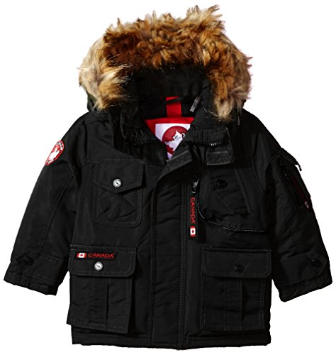 Canada Weather Gear Big Boys' Outerwear Jacket (More Styles Available), Stadium-CW055-Black, (Boys Parka)