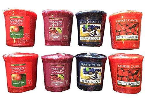 Yankee Votive Sampler (Yankee Candle Fruity Scents Votive Candle Sampler Pack- 8 Count)