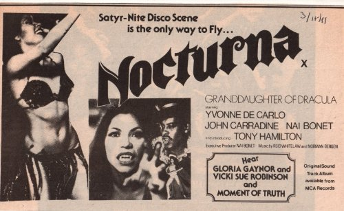 Nocturna movie ad Clipping Magazine photo 1pg 6x10 orig M8656 from Fabulous Hollywood Memories