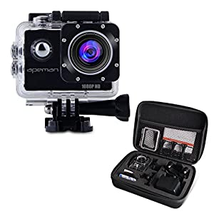 APEMAN Full HD Action Kamera 1080P Sports Camera Cam 170° Weitwinkel-Objektiv...