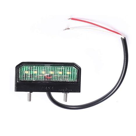 AOHEWEI LED Brillante Luz de Matrícula Número Luces de Placa Licencia Lámpara Trasera Impermeable 12~