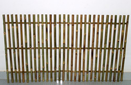 Master Garden Products Bamboo Picket Rolled Fence, Even Top