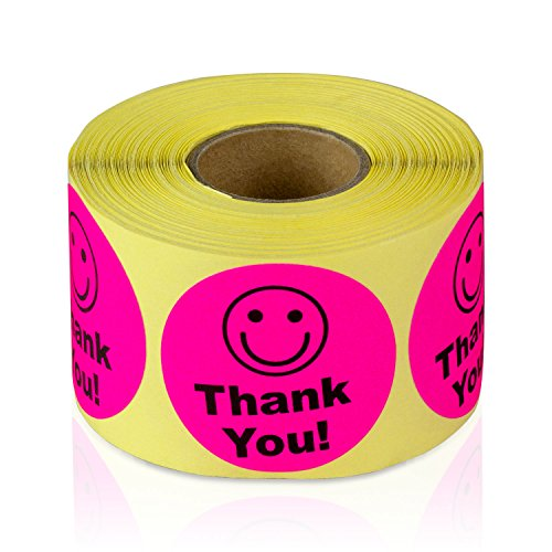 Pink - Thank You Circle Smile Smiley Face 1.5