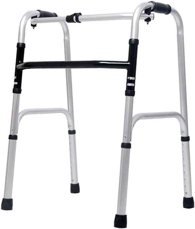 QIYUE Ayuda for Caminar, Portátil Walker Ancianos Altura Ajustable Plegable Andador Ligero y Compacto for Adultos, Andadores for los Ancianos