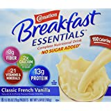 Carnation Breakfast Essentials Complete Light Start Nutritional Drink, Classic French Vanilla, 8-Count/0.705 Packets (Pack of 4)