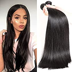 CYNOSURE Brazilian Straight Hair 3 Bundles 8a Grade Unprocessed Virgin Human Hair Straight Weave Extensions 18 20 22inches