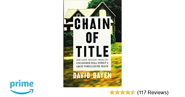 Amazon com: Chain of Title: How Three Ordinary Americans