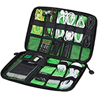 Universal Waterproof Multi-pocket Electronic Accessories Cable Bag Protable Travel Organizer for /Flash Drives/ USB Drive Shuttle/Thumb Drives/Pen Drives/ Power Bank/SD Card/Ipod