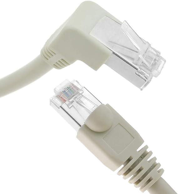 BeMatik - Cable de red de categoría 6 Cat.6 RJ45 acodado-recto UTP 24AWG LAN de 2 m: Amazon.es: Electrónica