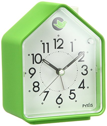 Analog Alarm Clock Chirping Bird Green NR434M by Seiko (Alarm Birdsong Clock)
