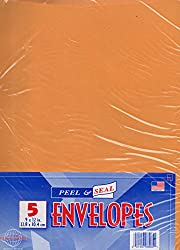 """Peel & Seal Envelopes 5 Pack 9"""" X 12"""" Inches"""