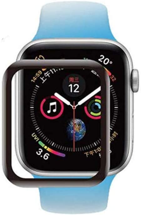 [3 Pack ] Tempered Glass Screen Protector, Suitable for Apple Watch Series 3/2/1 (38mm) [Black] Full Coverage Protective Film 9H 3D Anti-Scratch and Anti-Bubble