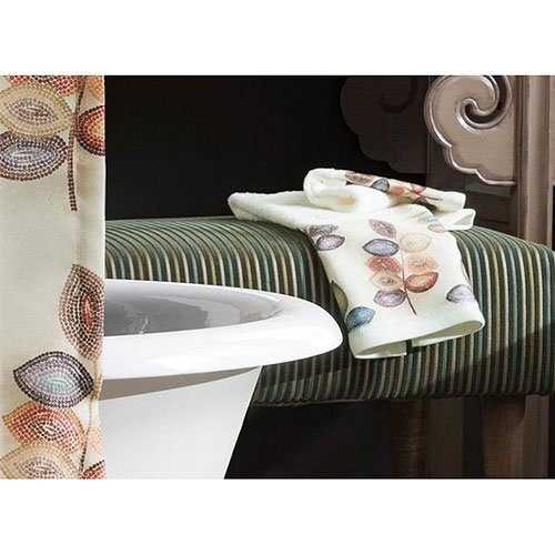 Croscill Mosaic Leaves Towel Collection Ivory Hand Towels