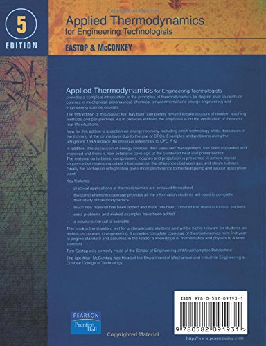 applied thermodynamics for engineering technologists 5th edition rh amazon ca applied thermodynamics solution manual pdf applied thermodynamics for engineering technologists student solutions manual